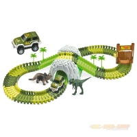 Magic Traxx Dino-Park, Mini Set mit Tunnel 109-teilig