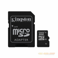 MicroSDHC 16GB Kingston + Adapter
