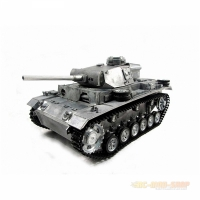 Panzer III, German Tank, Full Metal 1/16 Scale with...