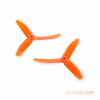 Propeller 3-Blatt Nylonfaser 5040 M5 / 7mm Hub, orange