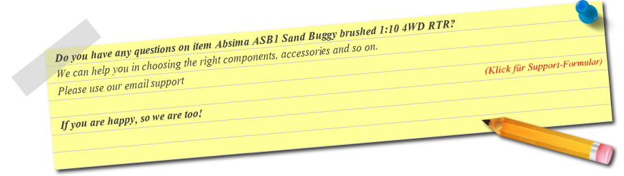Fragen zu Absima ASB1 Sand Buggy brushed 1:10 4WD RTR